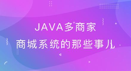 关于java多商家网上商城系统的那些事儿!
