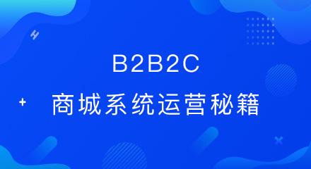 b2b2c商城系统运营秘籍