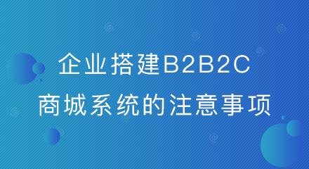 企业搭建B2B2C商城系统的注意事项来了!