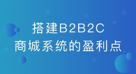 企业搭建b2b2c商城系统的盈利点有哪些?