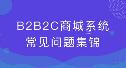 干货!b2b2c商城系统的常见问题集锦