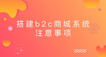 企业搭建b2c商城系统应注意哪些事项?