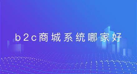 b2c商城系统开发哪家好?可参考这几点!