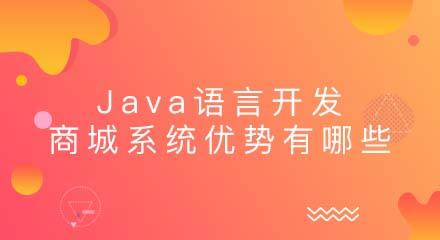 Java语言开发商城系统的优势有哪些?