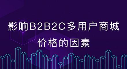 影响b2b2c多用户商城价格的因素有哪些?