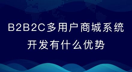 B2B2C多用户商城系统开发有什么优势?