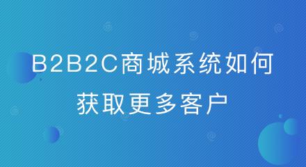 b2b2c商城系统如何获取更多客户?