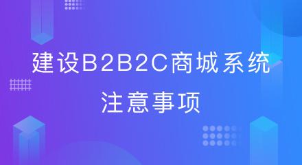 建设b2b2c商城系统注意事项