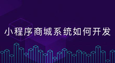 小程序商城系统如何开发?