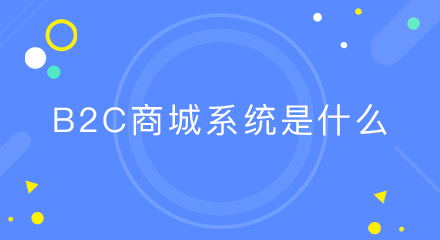 b2c商城系统是什么?有哪些功能?