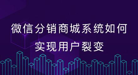 微信分销商城系统如何实现用户裂变?